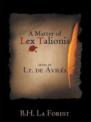 cover image of A Matter of Lex Talionis