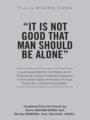 "cover image of ""It Is Not Good That Man Should Be Alone"""