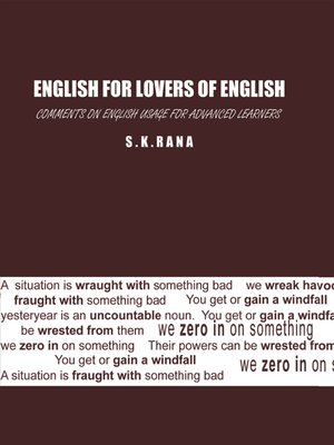 cover image of English for Lovers of English