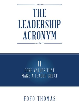 cover image of The Leadership Acronym
