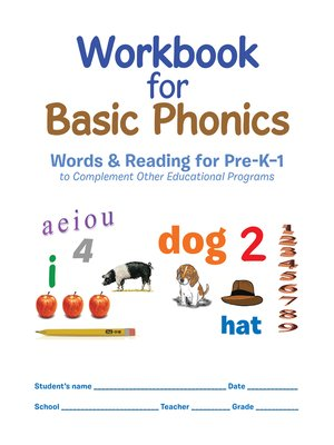 cover image of Workbook  for Basic Phonics