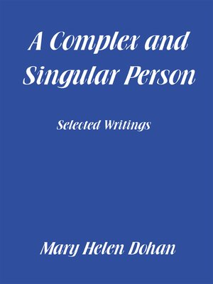 cover image of A Complex and Singular Person