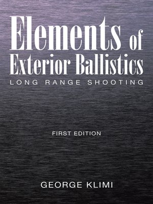 cover image of Elements of Exterior Ballistics