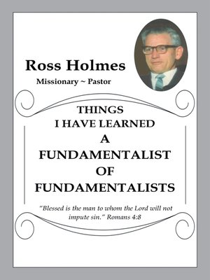 cover image of A Fundamentalist of Fundamentalists