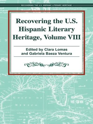 cover image of Recovering the U. S. Hispanic Literary Heritage, Volume VIII