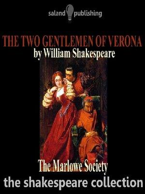 cover image of The Two Gentlemen of Verona