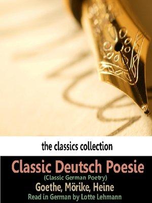 cover image of Classic Deutsch Poesie