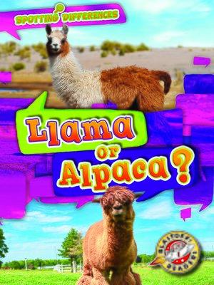 cover image of Llama or Alpaca?