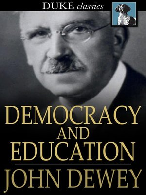 cover image of Democracy and Education
