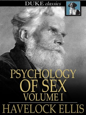cover image of Studies in the Psychology of Sex, Volume I