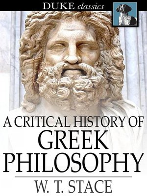 cover image of A Critical History of Greek Philosophy