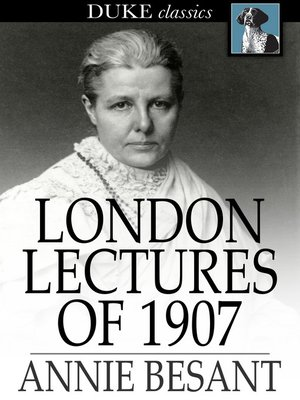 cover image of London Lectures of 1907