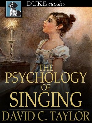 cover image of The Psychology of Singing