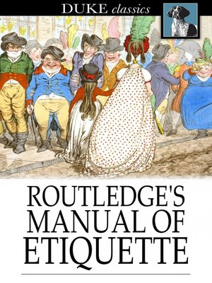 cover image of Routledge's Manual of Etiquette