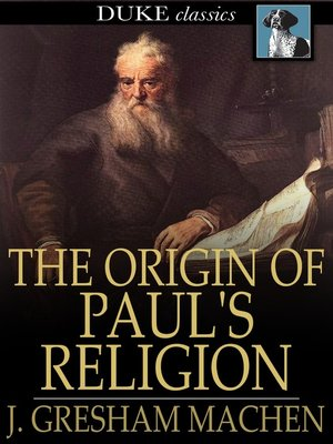 cover image of The Origin of Paul's Religion