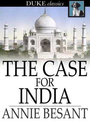 cover image of The Case for India