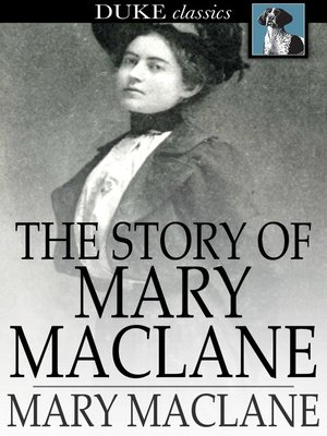 cover image of The Story of Mary MacLane