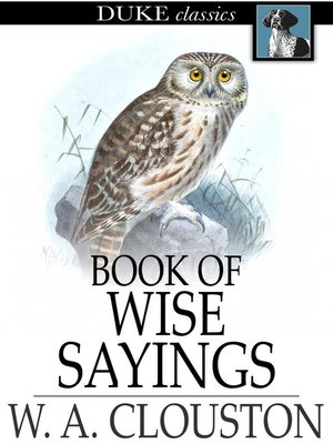 cover image of Book of Wise Sayings