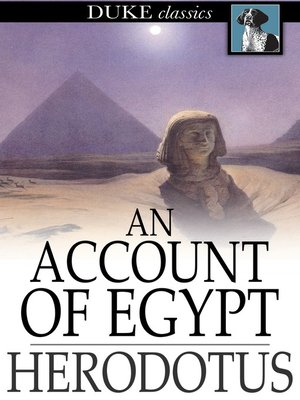 cover image of An Account of Egypt