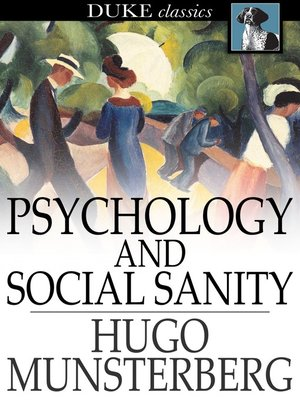 cover image of Psychology and Social Sanity