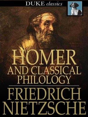 cover image of Homer and Classical Philology