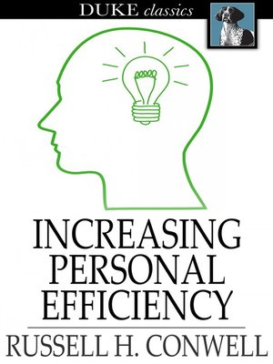 cover image of Increasing Personal Efficiency