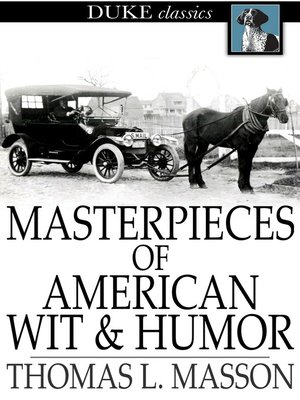 cover image of Masterpieces of American Wit and Humor