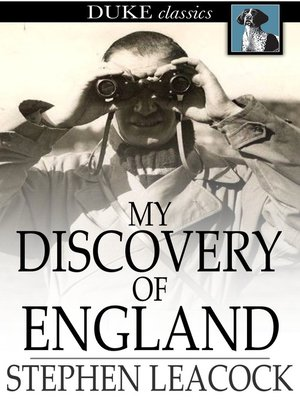 cover image of My Discovery of England