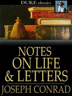 cover image of Notes on Life and Letters