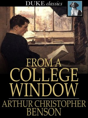 cover image of From a College Window