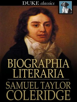 cover image of Biographia Literaria