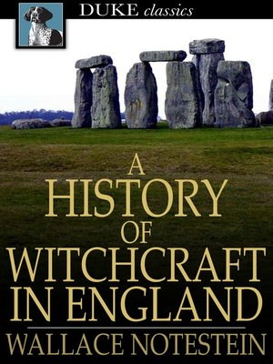 cover image of A History of Witchcraft in England