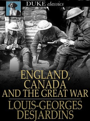 cover image of England, Canada and The Great War
