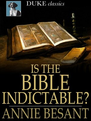 cover image of Is the Bible Indictable?
