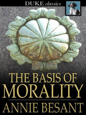 cover image of The Basis of Morality