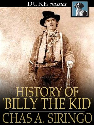 cover image of History of 'Billy the Kid'