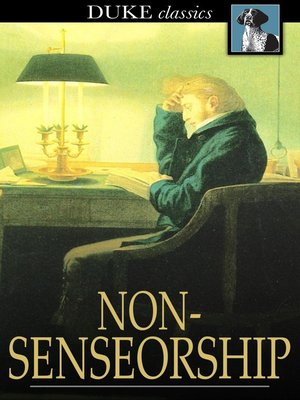 cover image of Nonsenseorship
