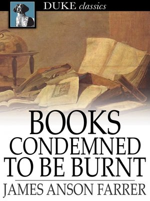 cover image of Books Condemned to Be Burnt