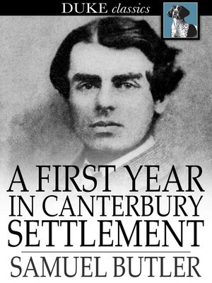 cover image of A First Year in Canterbury Settlement
