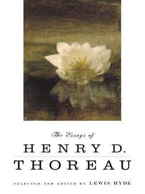 by d edited essay henry hyde lewis selected thoreau In november 1862 thoreau published an essay   apples were selected for attractive appearance and keeping  the essays of henry d thoreau edited by lewis hyde.