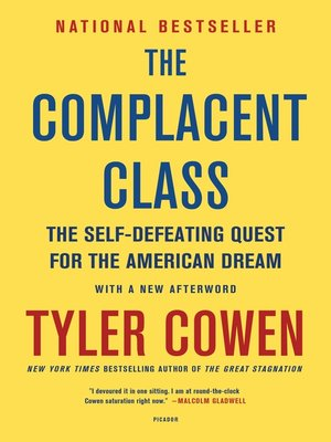 cover image of The Complacent Class