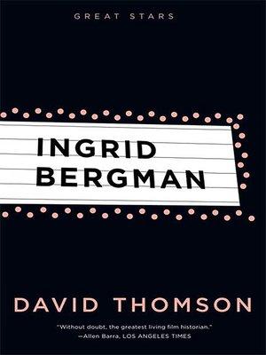 cover image of Ingrid Bergman