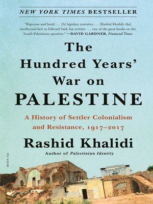 cover image of The Hundred Years' War on Palestine
