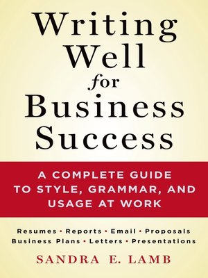 cover image of Writing Well for Business Success