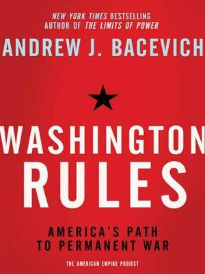cover image of Washington Rules