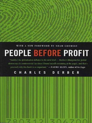 cover image of People Before Profit