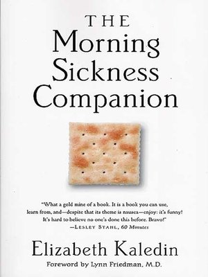 cover image of The Morning Sickness Companion