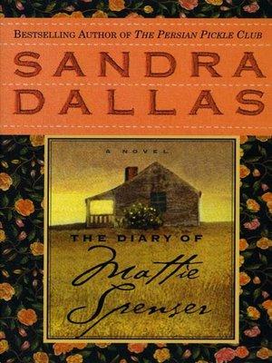 cover image of The Diary of Mattie Spenser