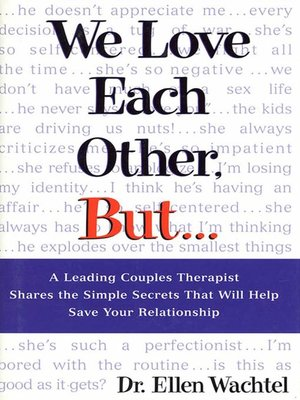 cover image of We Love Each Other, But . . .