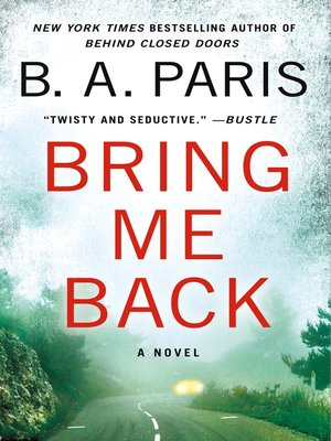 Cover image for Bring Me Back